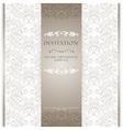 Light beige ornamental invitation card vector image