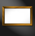 empty wooden frame vector image vector image