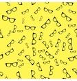 Seamless sunglass pattern on yellow background vector image