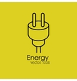 plug energy isolated icon design vector image