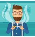 Man quit smoking vector image
