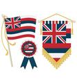 hawaii flags vector image