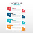 abstract business infographics elements vector image