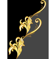 an abstract gold pattern vector image