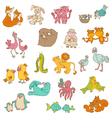 Baby Animals with Moms vector image