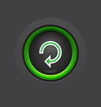dark circle glossy reload button vector image