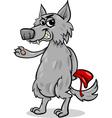 fairy tale wolf cartoon vector image