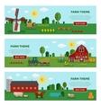 Flat Farm Vegetables Banner Set vector image