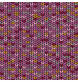Knitted melange seamless pattern knitting craft vector image