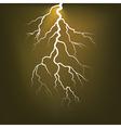 Lighting flash on the dark sky vector image