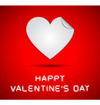 Origami hearts on happy valentines day card vector image