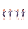 Set of four business female characters vector image