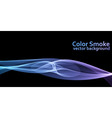 Blue and violet colored smoke background vector image