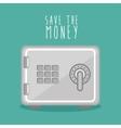 save the money box design icon vector image vector image