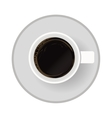 Isolated coffee cup design vector image