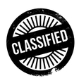 Classified stamp rubber grunge vector image