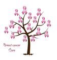 Breast cancer awareness tree vector image vector image