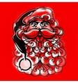 Santa Claus Face Greeting Card vector image vector image