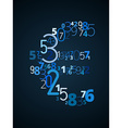 Euro sign font from numbers vector image