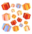 Gift boxes with bows and ribbons vector image
