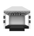Podium concert stage vector image