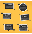 Quote Frames vector image vector image