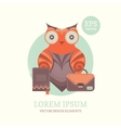 a cute owl vector image