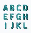 Alphabet set type fonts set dot colour style vector image