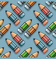 color pencils seamless pattern cute vector image