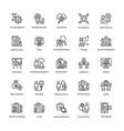 project management line icons set 13 vector image