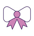 purple bow cartoon vector image