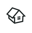 Real estate simple business icon isolated on white vector image