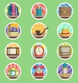 Vintage Item Flat Icon vector image