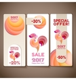 Banner sale set for New Year of the rooster vector image