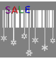 Creative winter sale with stylized snowflake and vector image