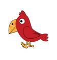 cute standing bird vector image