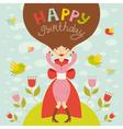 birthday lady vector image vector image