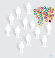 People with cloud of application icons vector image vector image