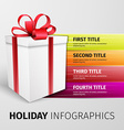 holiday infographics vector image