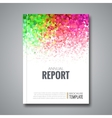 Business Report Design Background with Colorful vector image