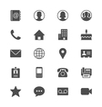 Contact flat icons vector image