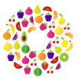 fresh fruit berries circle vector image