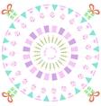 Funny happy birthday round background vector image