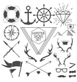 Hipster signs and symbols set with anchor vector image