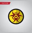 isolated biohazard flat icon danger vector image