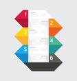 Modern infographics design options geometric banne vector image