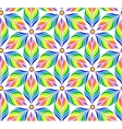 Seamless pattern with abstract bright flowers vector image