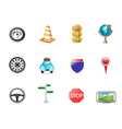 traffic icon set vector image