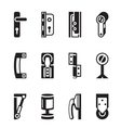 Interior and exterior fasteners vector image