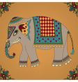 Indian elephant vector image